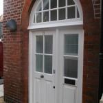 Hardwood Double Glazed Door sidelights arch