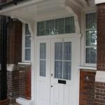 Hardwood Double Glazed Door sidelight window oak