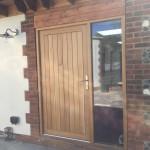 Oak Front door sidelights window