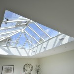 Timber Roof Lantern painted white