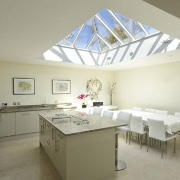 Timber Roof Lantern painted white solar aesthetically