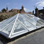 Timber Roof Lantern painted opening vents