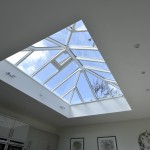 Double glazed Timber Roof Lantern painted white