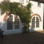 Round Top Arched White French Doors