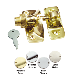 Brighton locking sash fastener