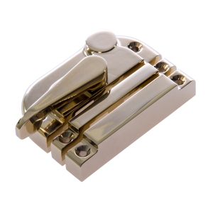 Contemporary locking sash fastener pvd brass