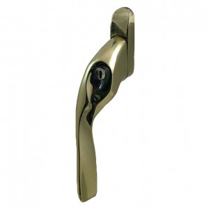 EH20 locking espagnolette handle brass