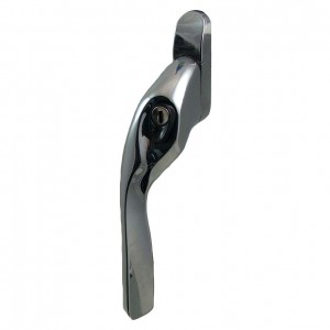 EH20 locking espagnolette handle polished chrome