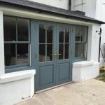 Double glazed hardwood french doors sash windows