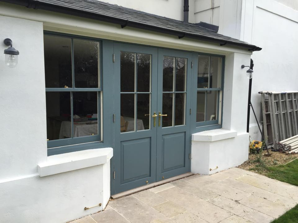 External hardwood french door frame and sill timber wooden for Timber french doors