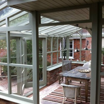 Solid windows bi-fold doors orangery roof Grey