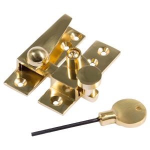Straight arm sash fastener brass