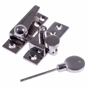 Straight arm sash fastener polished chrome