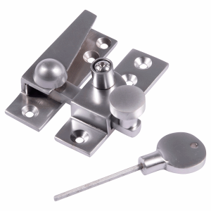 Straight arm sash fastener satin stainless