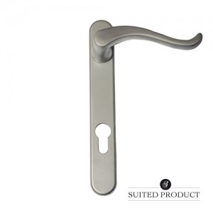 Swan neck multi-point door handle Satin Chrome
