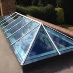 Timber roof lantern flat roof oak window