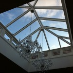 Hardwood Timber roof lantern double glazed aluminium