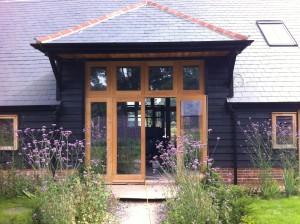 Double glazed Oak French Doors stable windows