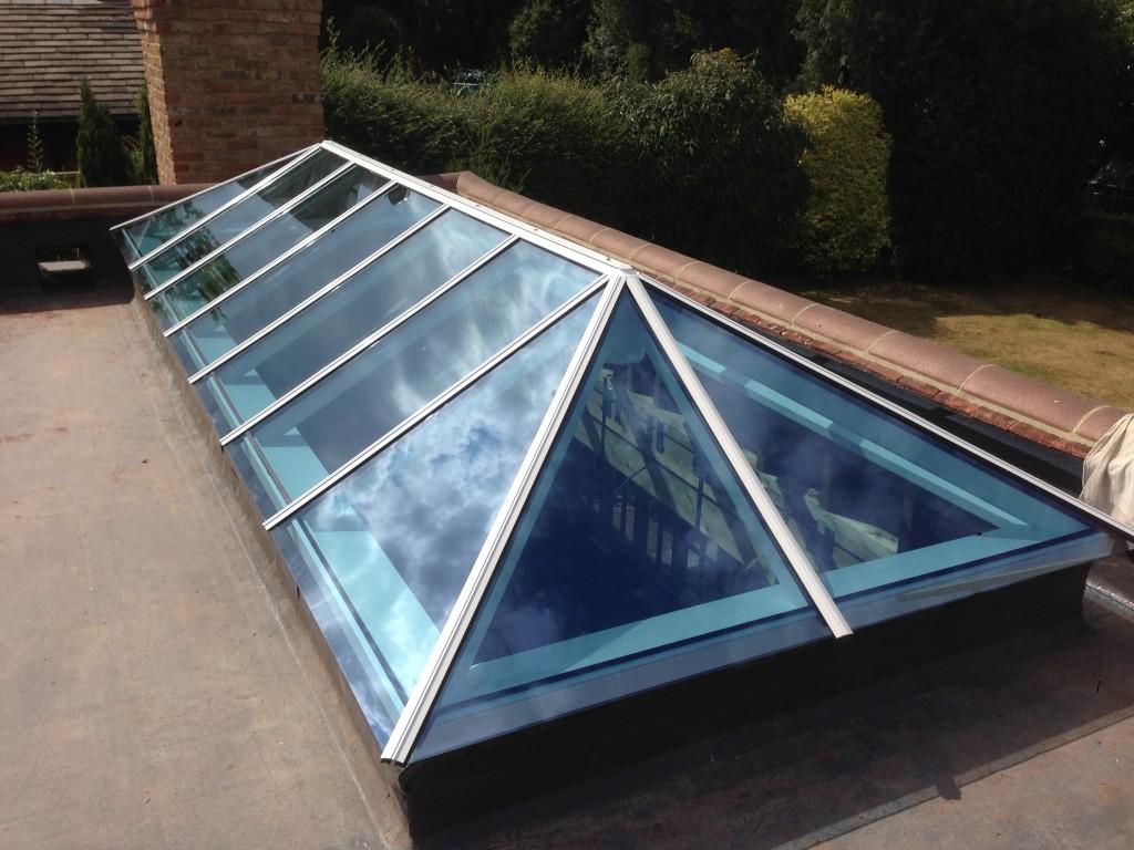 Timber Roof Lantern flat roof hardwood aluminium