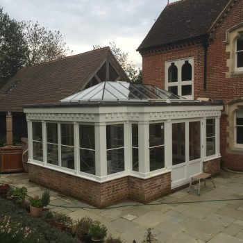 Hardwood Timber Orangery Roof Lantern french doors
