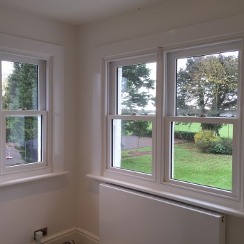 Hardwood sash windows view painted glazed