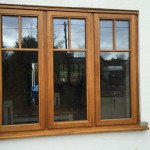 Oak casement double glazed window accoya