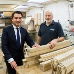 MP Alan Mak Medina Joinery apprenticeships