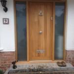 Solid oak front door glazed sidelights windows