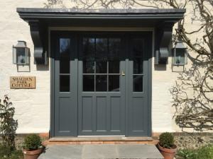 Accoya door hardwood oak painted double glazed