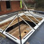 Installing a Hardwood Timber Roof Lantern