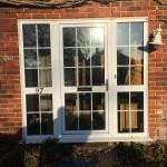 painted hardwood double glazed front door