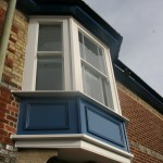 Painted hardwood bay sliding sash window Hampshire