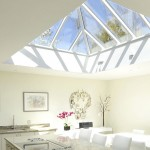 Flat wooden Roof Lantern Light Skylight