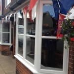 Painted bespoke hardwood Bay casement windows UK
