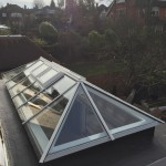 Flat Roofs Light installation skylight