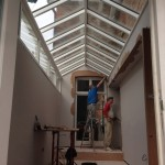 Timber Roof Light installation wooden skylight