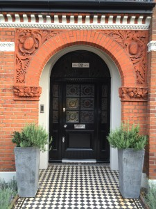 Accoya Front doors Door painted black Oak hardwood