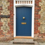 Accoya Front Door painted blue oak