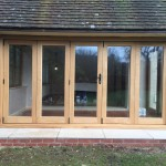 Sliding Oak timber Bifold doors Hampshire