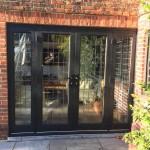 Oak French Doors leaded glass bespoke