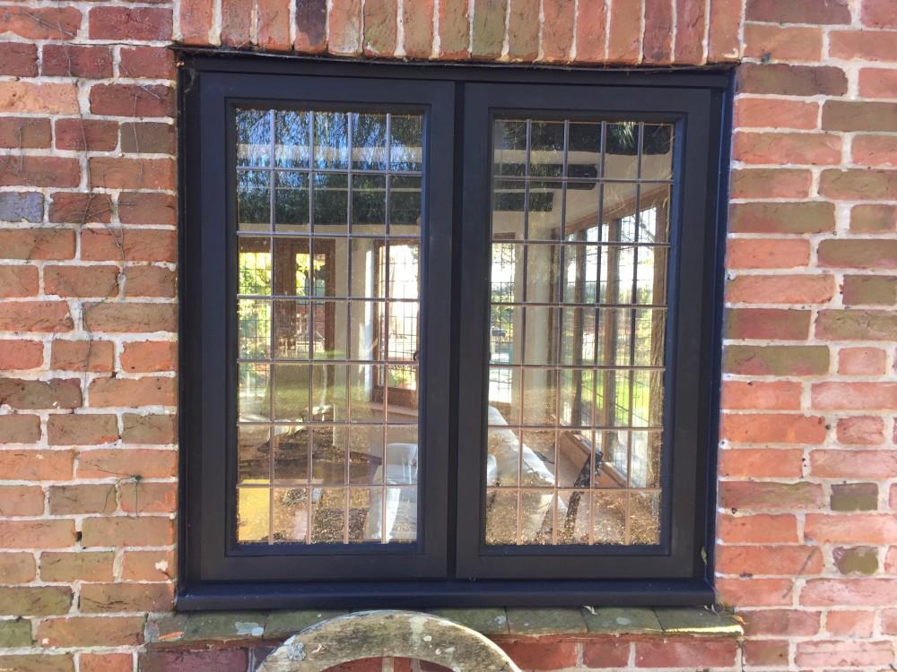 Bespoke Stained Oak Casement Window Leaded Glass