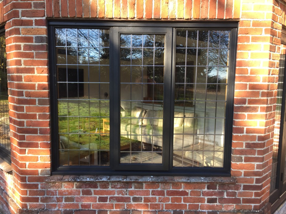Oak Windows And Doors With Leaded Glass Medina Joinery