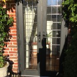 bespoke stained Oak French Doors leaded glass