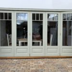 Accoya Bifold doors painted F&B French Grey