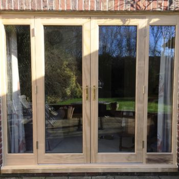 Accoya timber French doors sidelights