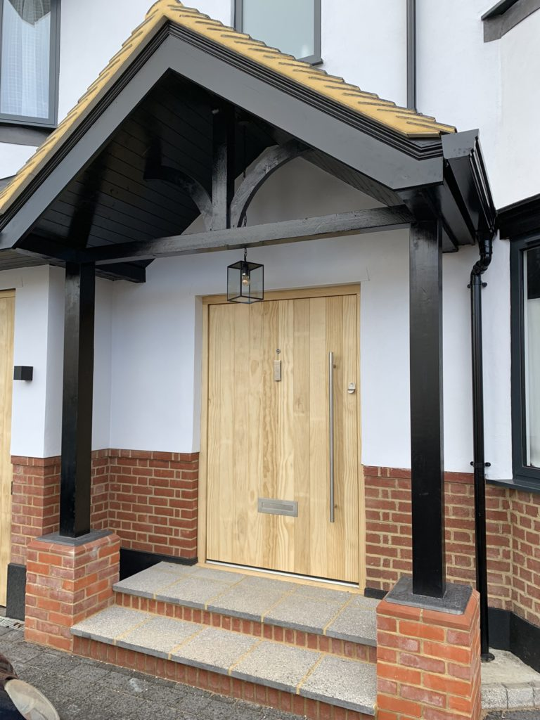 Accoya Front door wooden timber entrance