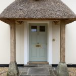 Accoya Front door thatched porch timber