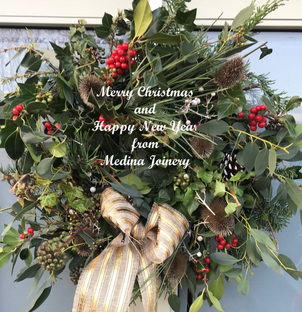 Merry Christmas Happy New Year Medina Joinery