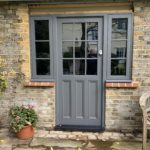 Grey Accoya timber Front door painted