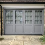 Grey Accoya timber bifold doors